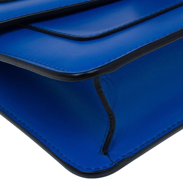 Bvlgari Blue Calfskin Leather Small Serpenti Forever Shoulder Bag