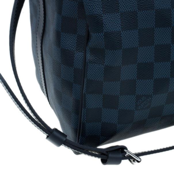 Louis Vuitton Damier Cobalt Canvas Keepall Bandouliere 55