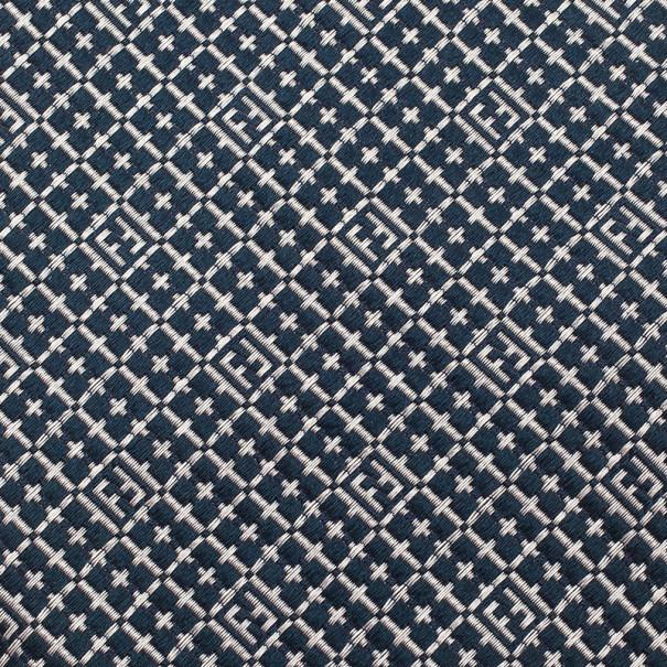 Fendi Blue FF Embroidered Silk Tie