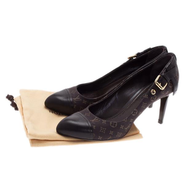 Louis Vuitton Brown Monogram Idylle Cap Toe Pumps Size 38