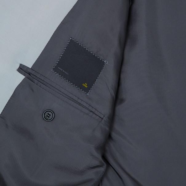 Fendi Giacca Kid Mohair Stretch Cream Blazer Jacket EU54