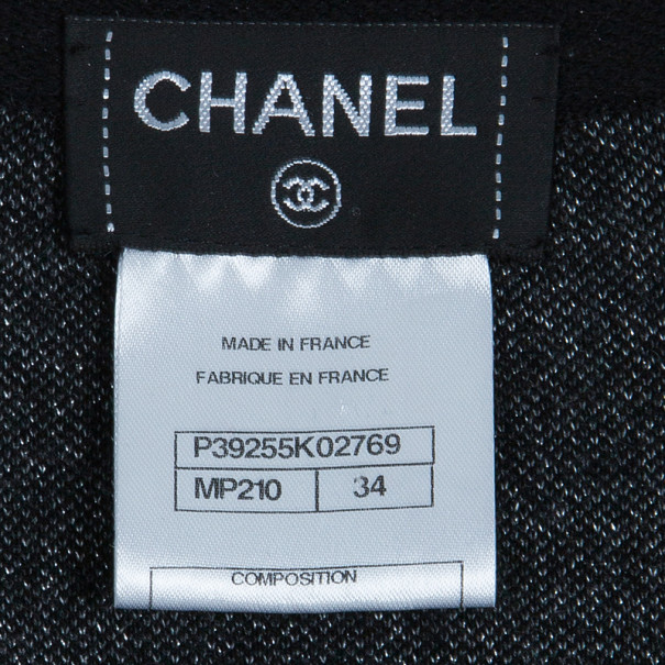 Chanel Grey Cashmere Long Cardigan S