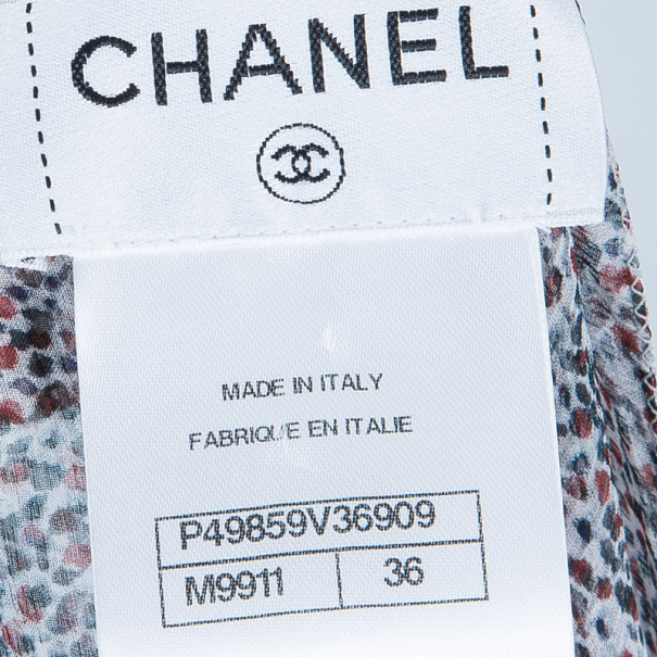 Chanel Silk Dotted Top S