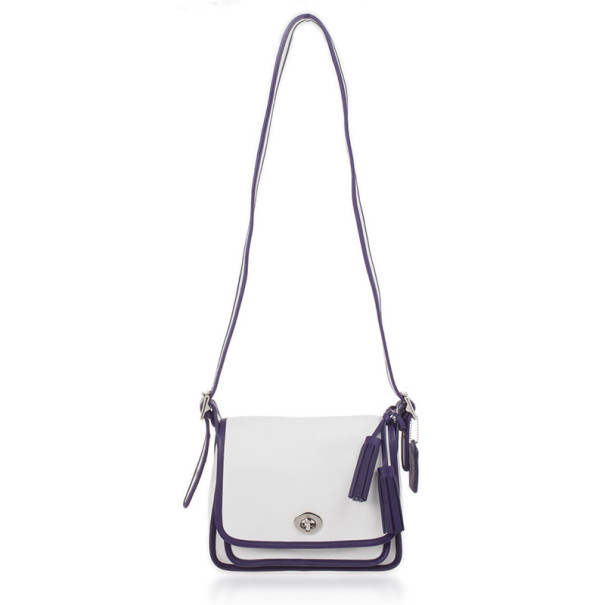 Coach White Legacy Archival Two Tone Leather Rambler
