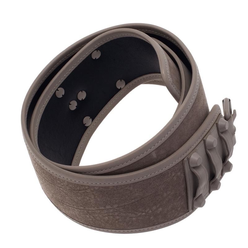 Balenciaga Beige Suede and Leather Waist Belt 90CM