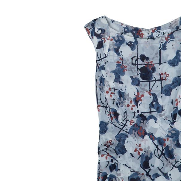 Chanel Floral Silk Printed Dress M