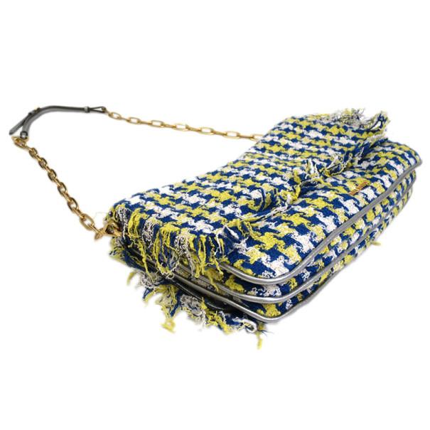Miu Miu Multicolored Tweed Chain Shoulder Bag