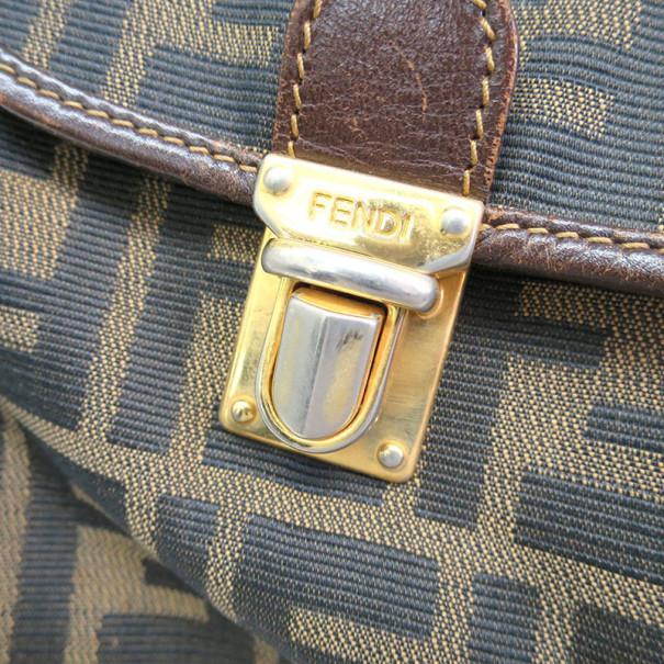Fendi Brown Tobacco Zucca Canvas Travel Backpack