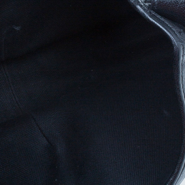 Saint Laurent Paris Black Leather Small Hobo