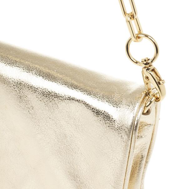 Tory Burch Robinson Gold Mini Chain Strap Bag