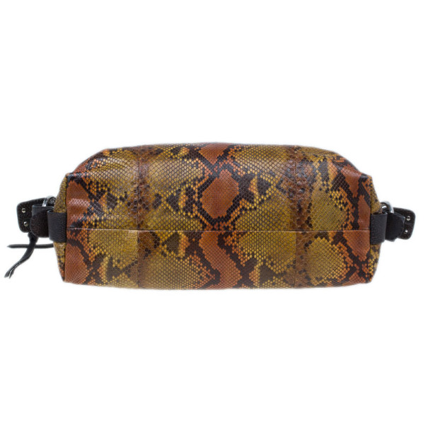 Gucci Python Multicoloured Bamboo Bar Hobo