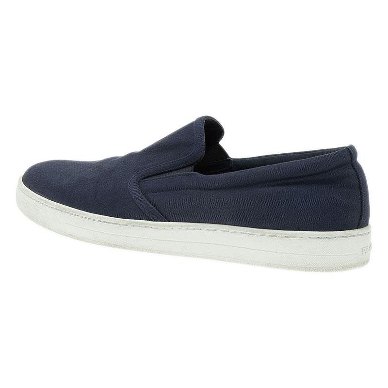 Prada Sport Navy Blue Loafers Size 43