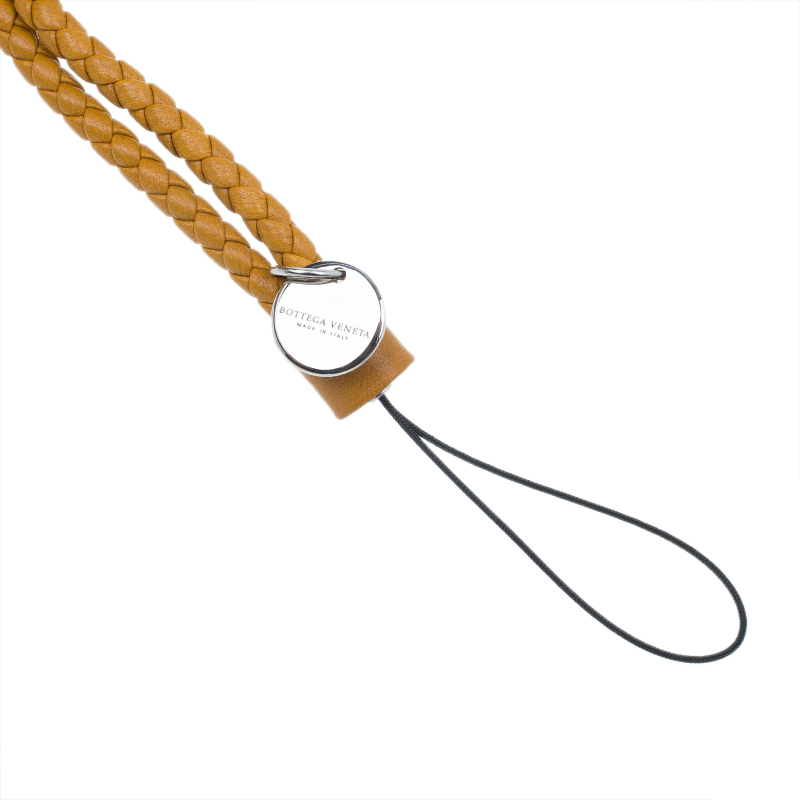 Bottega Veneta Orange Phone Strap