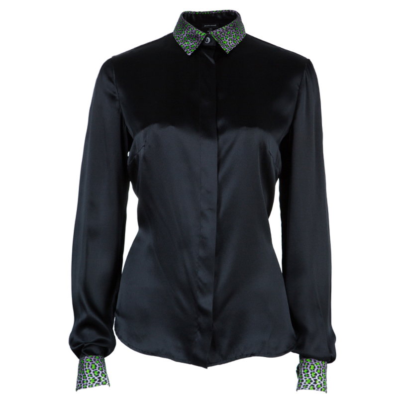 Just Cavalli Embellished Collar Shirt S