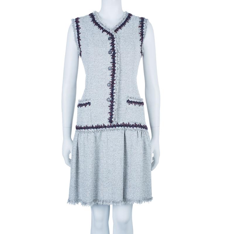 Chanel Bouclé Sleeveless Dress M