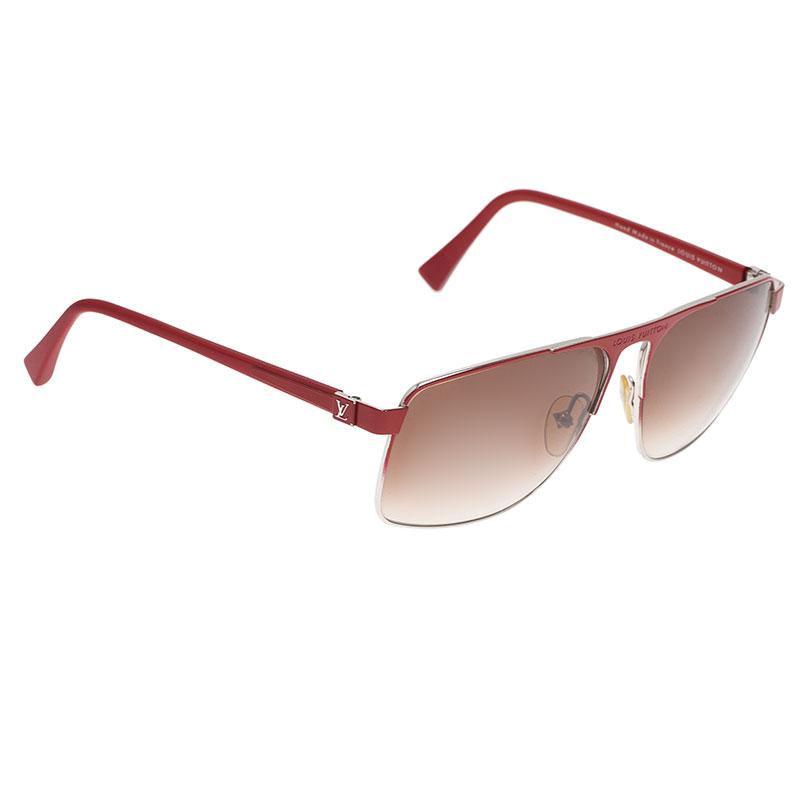 Louis Vuitton Red Knowlton Sunglasses