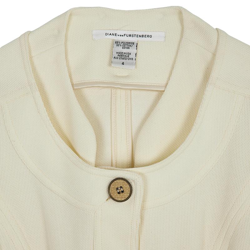 Diane Von Furstenberg Travis Short Sleeve Jacket S
