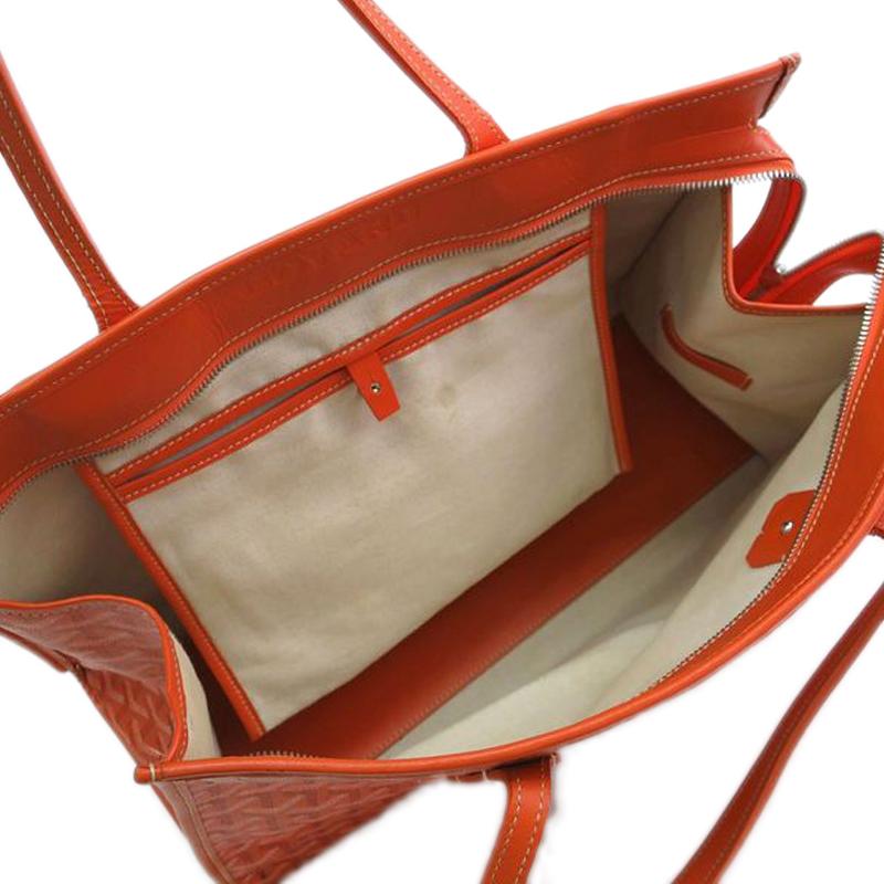 Goyard Orange Canvas Marquises Tote