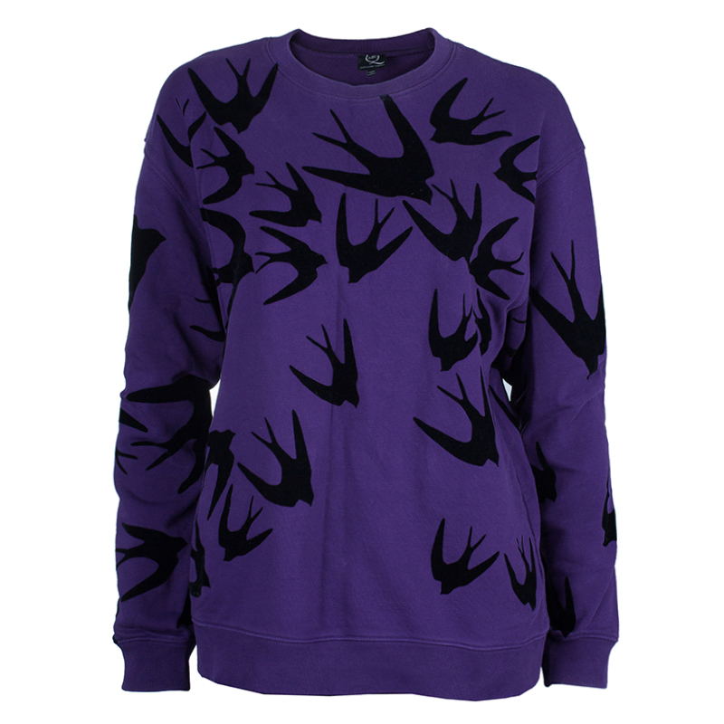 McQ By Alexander McQueen Purple Swallow Sweater M