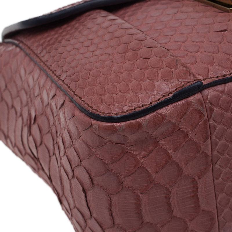 Chloe Pink Python Leather Elsie Square Shoulder Bag