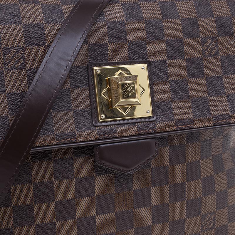 Louis Vuitton Damier Ebene Canvas Bergamo Satchel MM