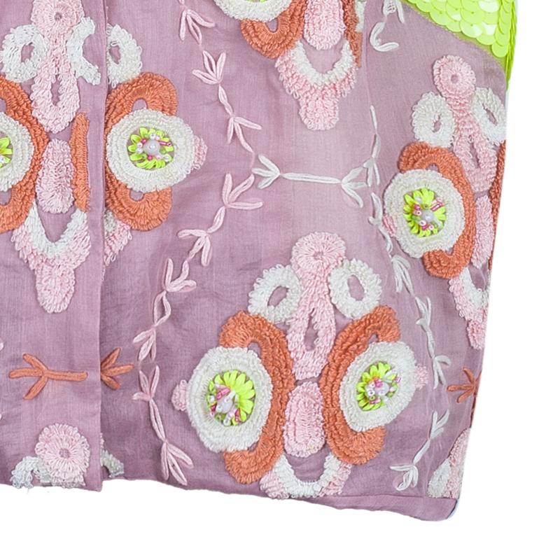 Chloe Sequin Crochet Embellished Reversible Bolero M