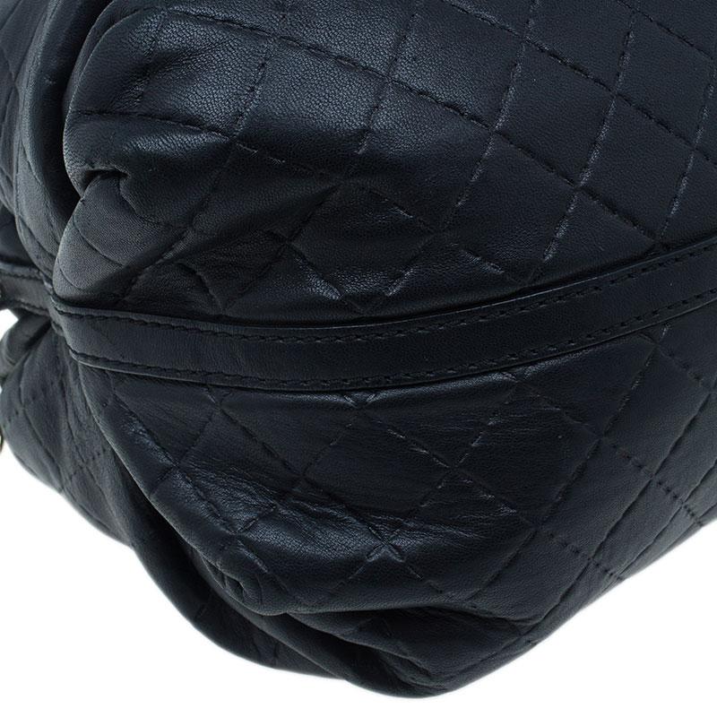 Carolina Herrera Black Leather Quilted Chain Satchel