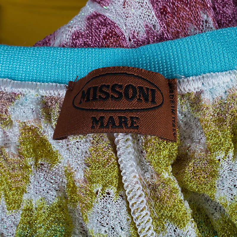 Missoni Mare Multicolor Knit Floral Top and Pants Set S/M