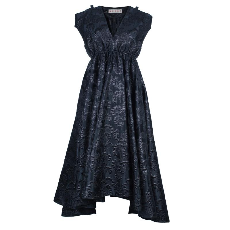 Marni Oriental Brocade Structured Gown S