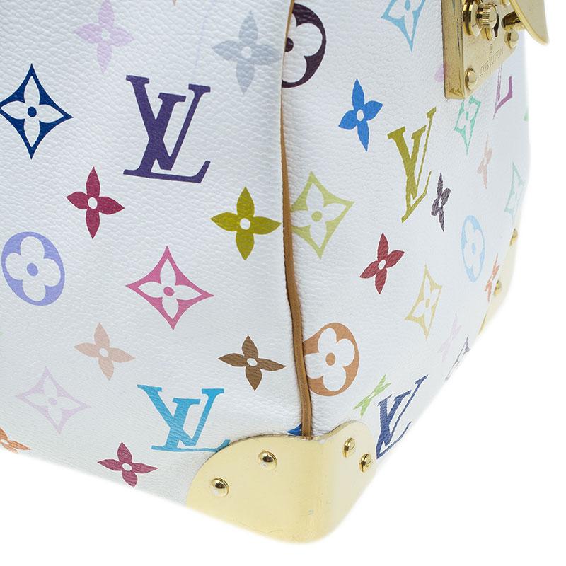 Louis Vuitton White Monogram Canvas Multicolore Speedy 30