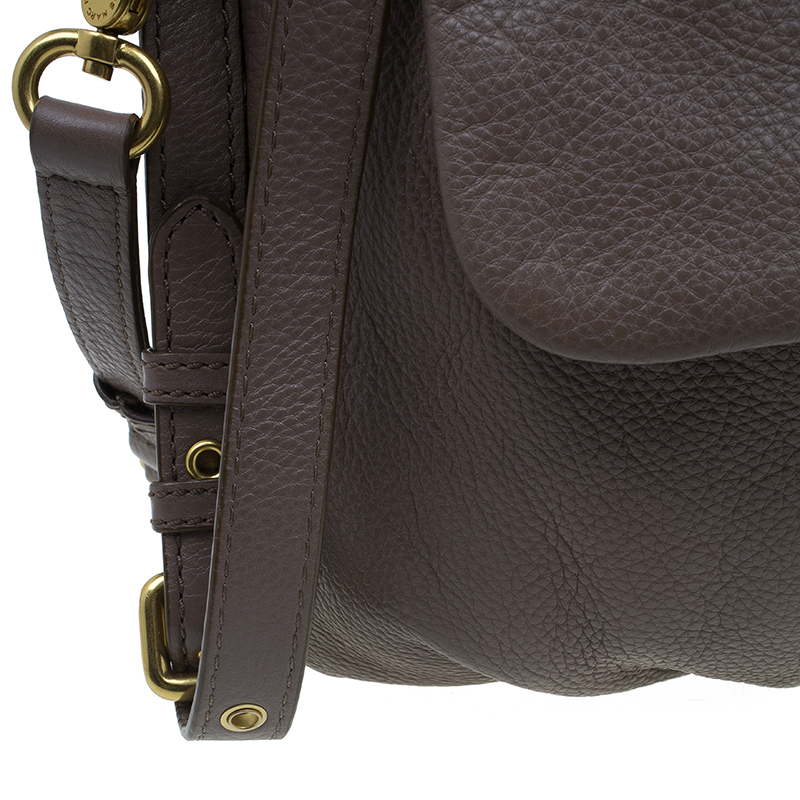 Marc by Marc Jacobs Beige Leather Classic Q Lil Ukita Satchel
