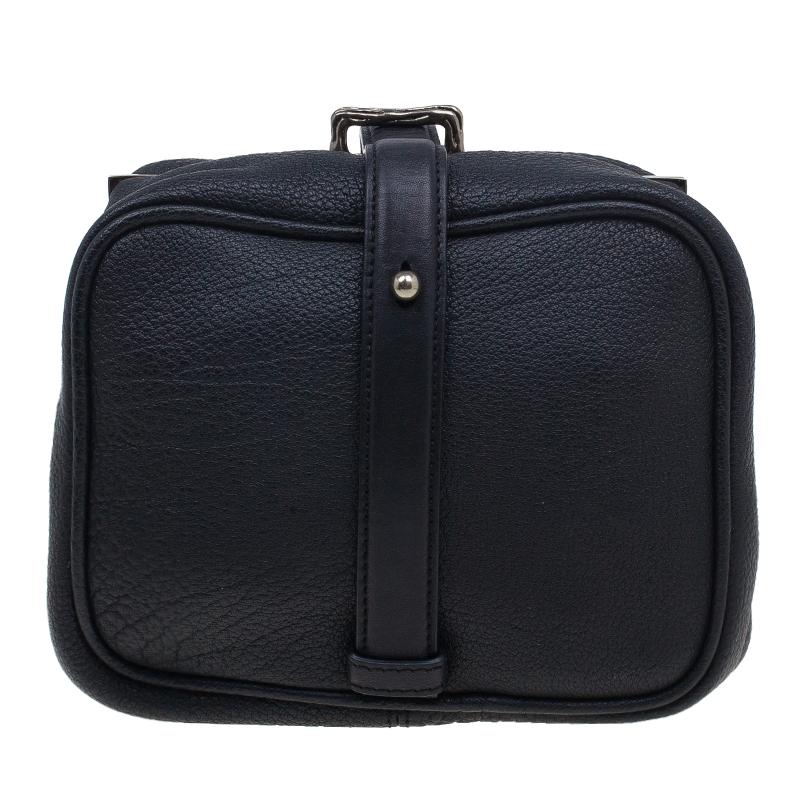 Alexander Wang Black Leather Dionne Frame Clutch