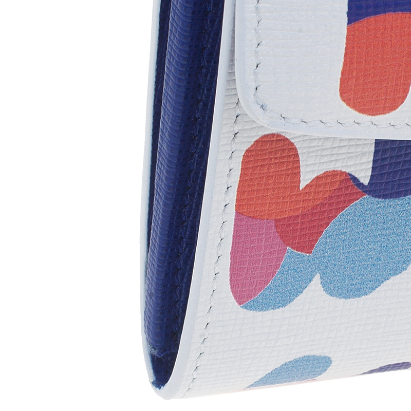 Fendi Multicolored Calfskin Continental Crayons Simply Wallet