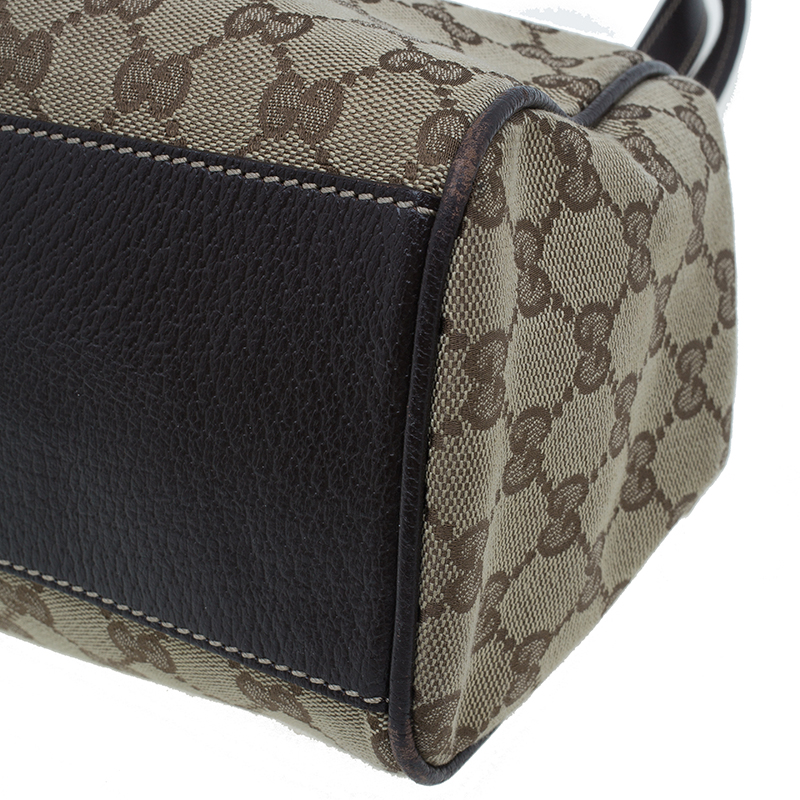 Gucci Brown Monogram Canvas Charmy Shoulder bag