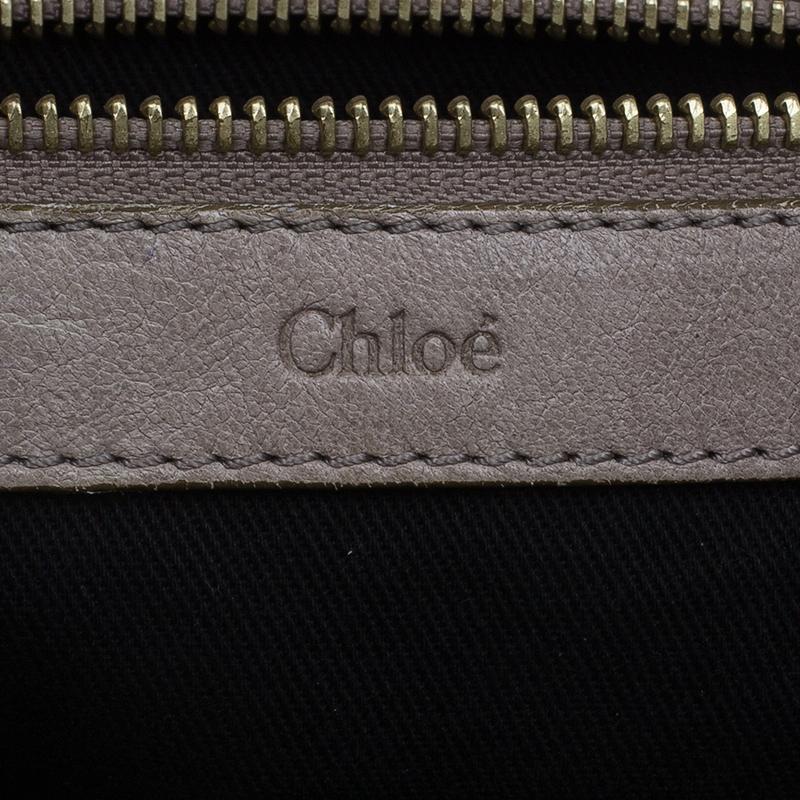 Chloe Metallic Gold Leather Ethel Satchel