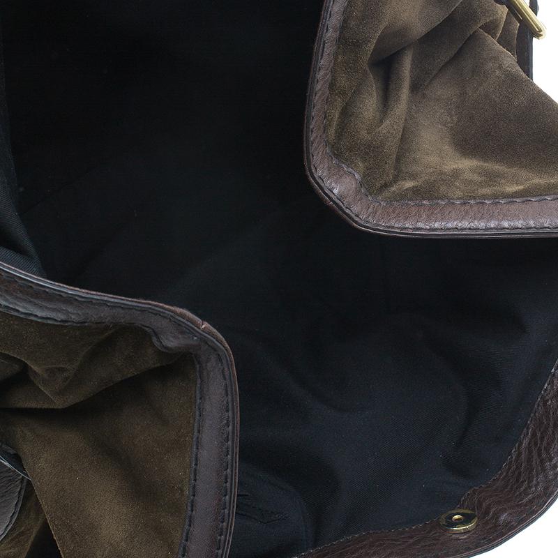 Gucci Brown Suede Horsebit Jockey Tote
