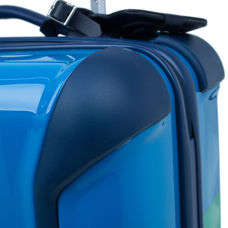 "Tumi Blue Plastic ""Are We There Yet?"" Continental Carry On Trolley"