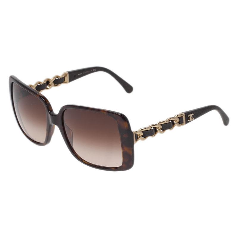 Chanel Brown 5208 Chain Link Square Sunglasses