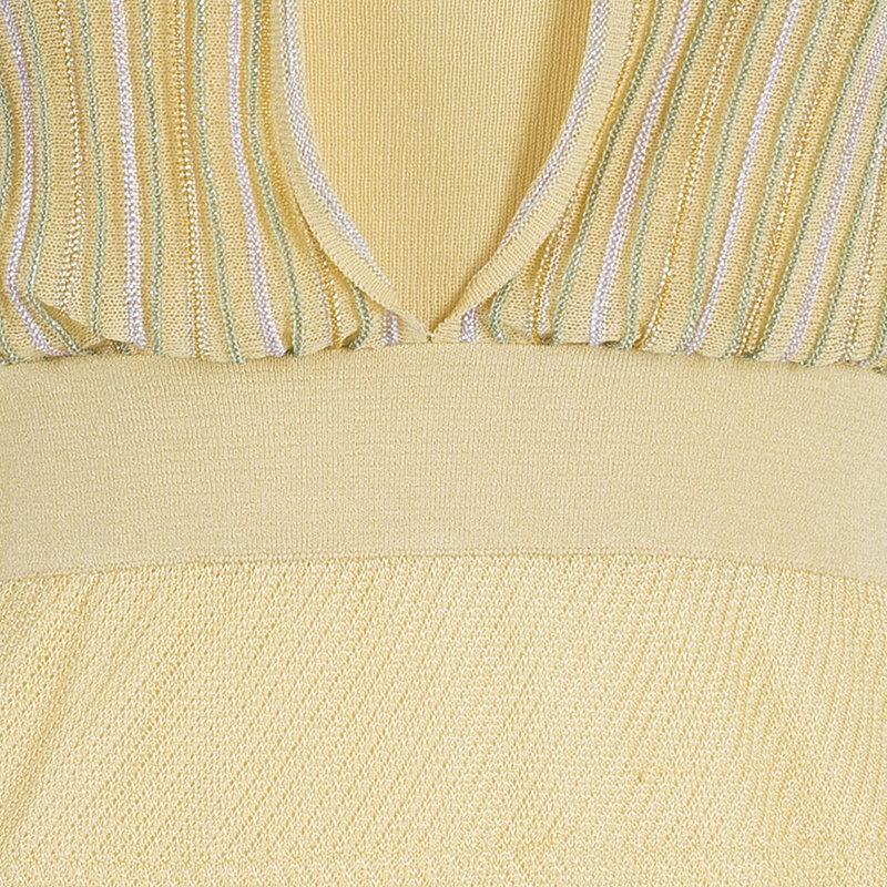 M Missoni Pastel Knit Sleeveless Dress S