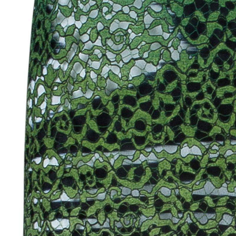 Missoni Gradient Laser Cut Lace Gown L