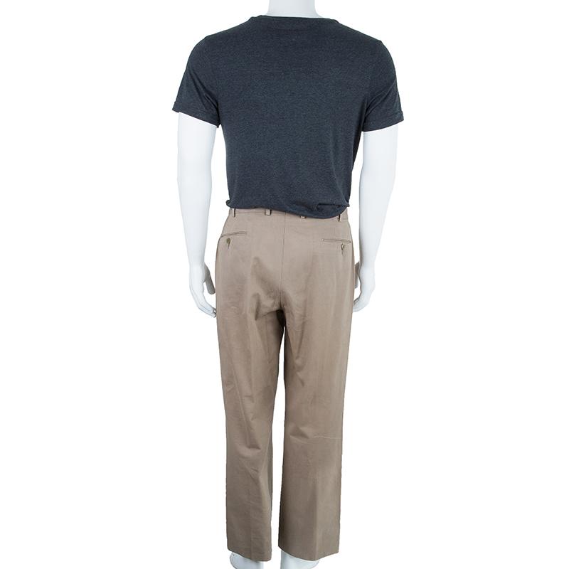 Ermenegildo Zegna Men's Beige Tricotine Pants L
