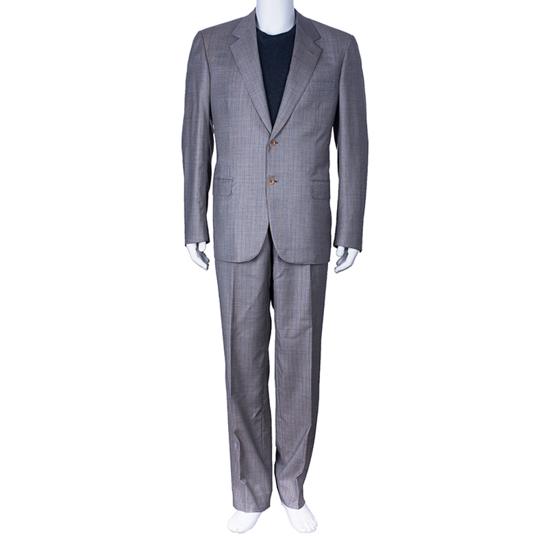 Brioni Men's Grey Palatino Suit L