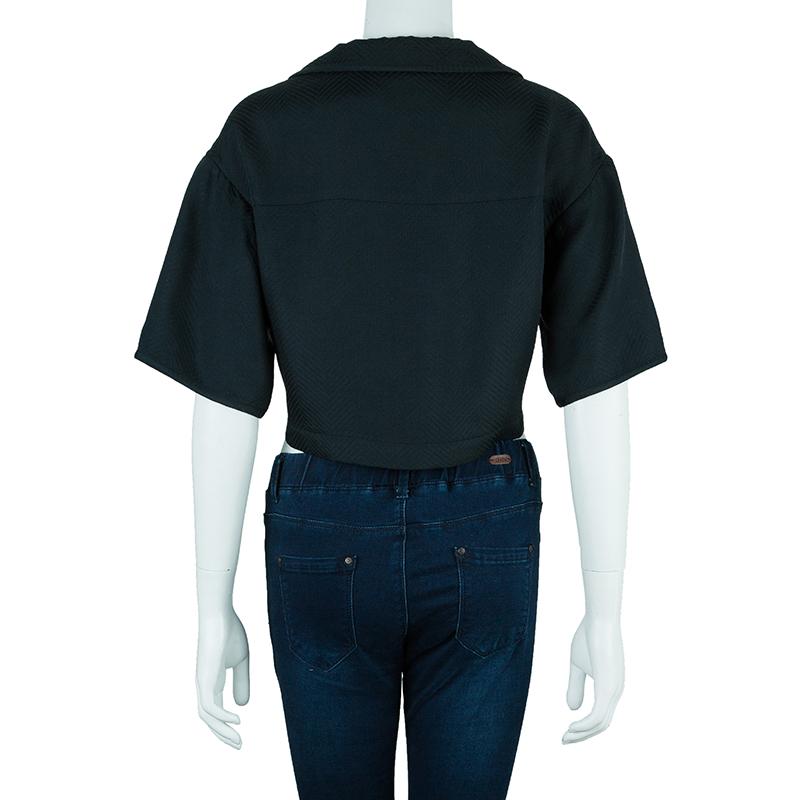 Emporio Armani Black Short Sleeve Jacket S