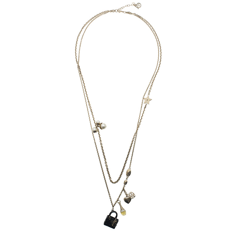 Dior Mise En Dior Charms Long Necklace