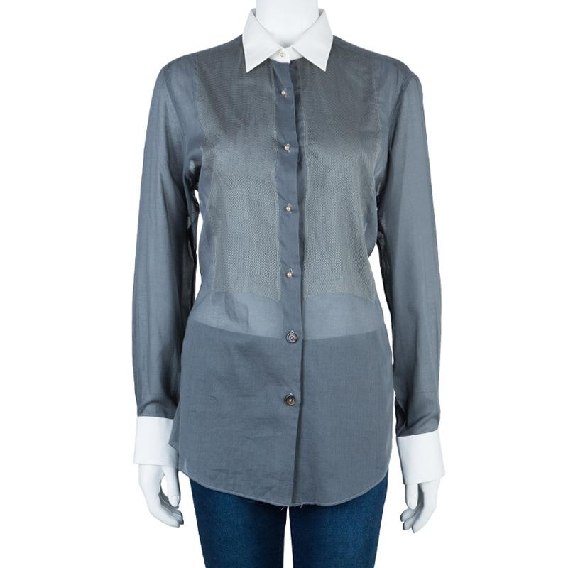 Lanvin Contrast Collar Shirt M