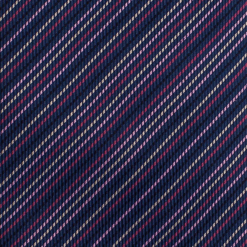 Hermes Purple Striped Silk Tie
