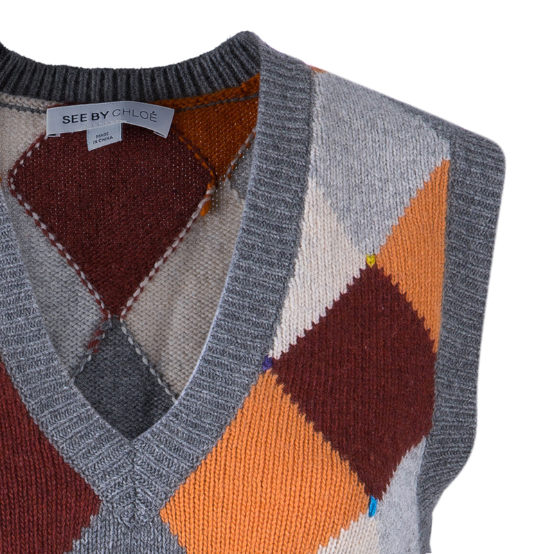 See By Chloe Sleeveless Knit Sweater Vest M