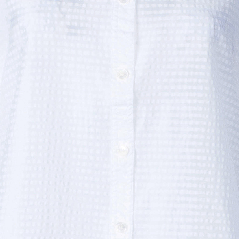 Burberry White Short Sleeve Cotton Top XS