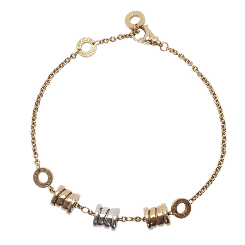 Bvlgari B.ZERO1 3-Elements 18K Yellow, White and Pink Gold Soft Bracelet