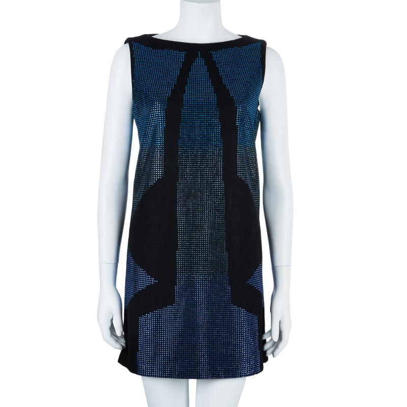 Just Cavalli Black Shift Swarovski Detail Dress M